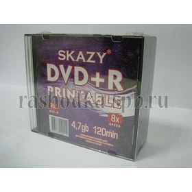 Диск Slim case (box) DVD+R SKAZY 8х 4.7 Gb Printable