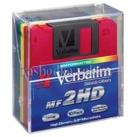 Дискеты Verbatim 3.5 , 1.44Mb PL Box Color (10шт)