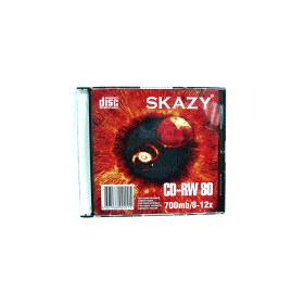 Диск CD-RW Slim case (box) SKAZY 700Mb 8-12x